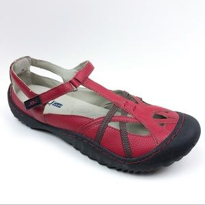 JBU by Jambu Dune Encore Flats Red and Brown